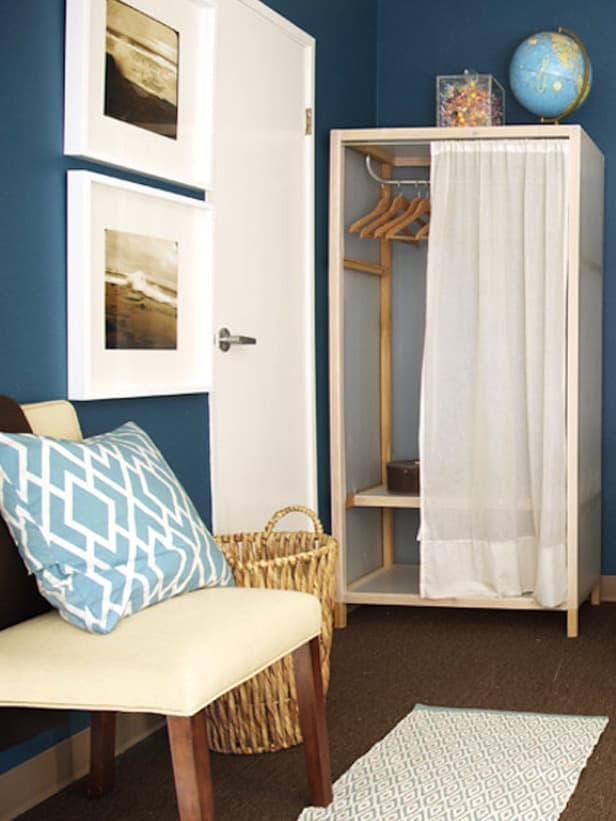 Dorm Room Closet: Where To Hang Curtains In The Dorm (Other Than The Windows