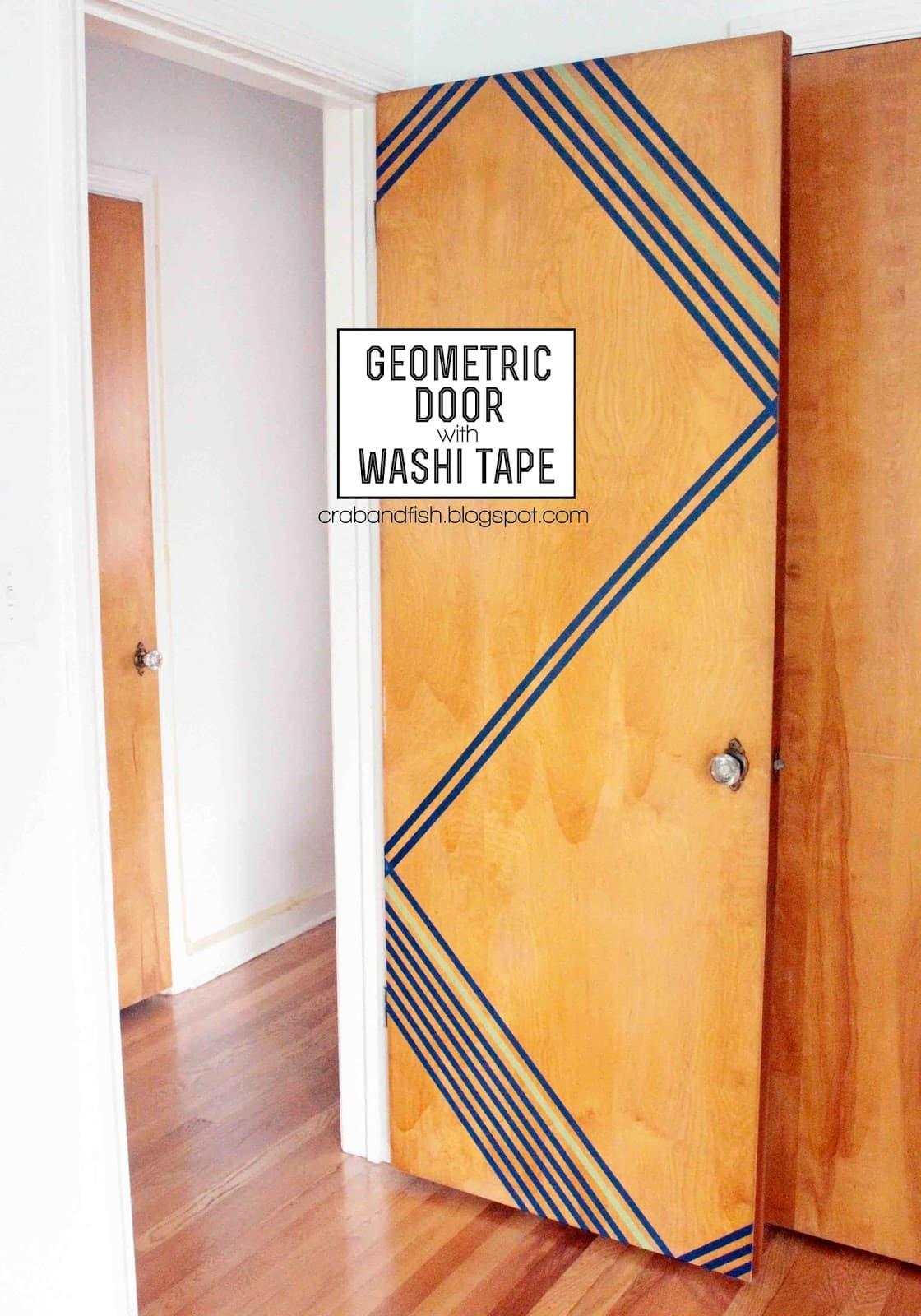 Geometric Door With Washi Tape