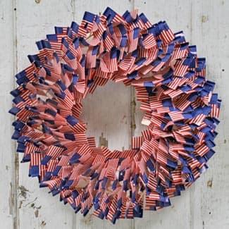 toothpick flag wreath