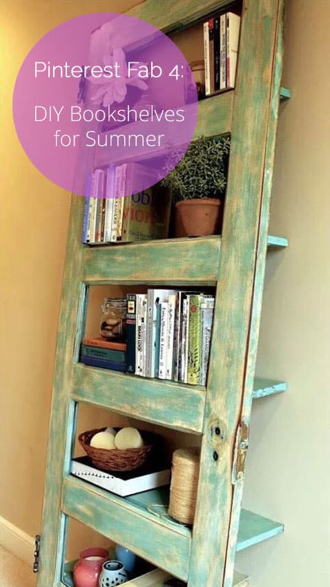 Diy Adjustable Book Cover ~ Diy bookshelves for summer the finishing touch
