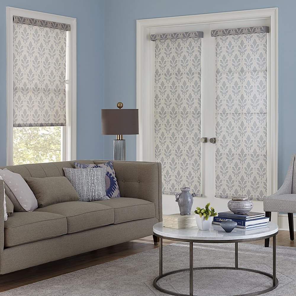 10 things you must know when buying blinds for doors the for Roller screens for french doors