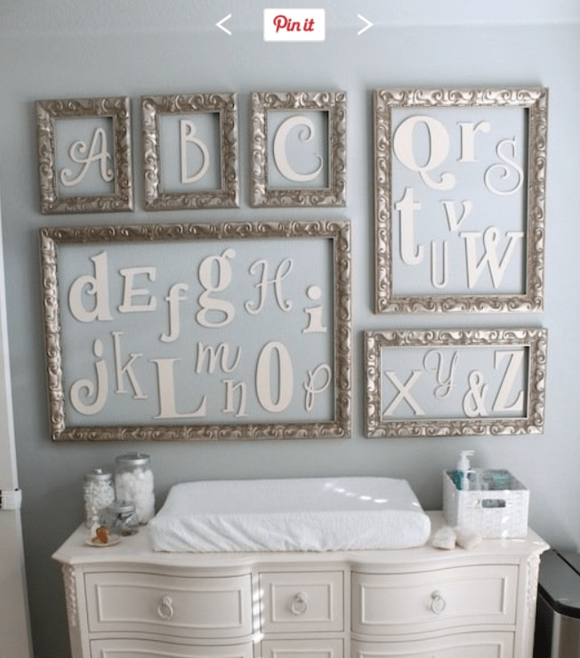 nursey decor alphabet1 Pinterest Fab 4: Nursery Decor Ideas