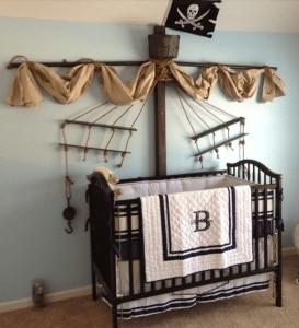nursey decor pirate 273x300 Pinterest Fab 4: Nursery Decor Ideas