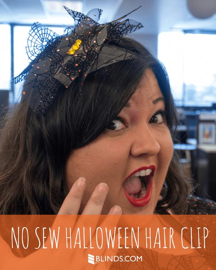 No Sew Halloween Hair Clip