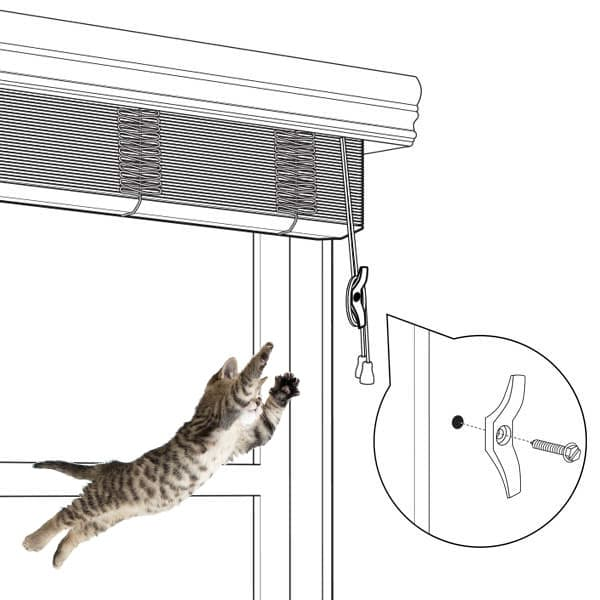 How To Keep Cat From Climbing Blinds