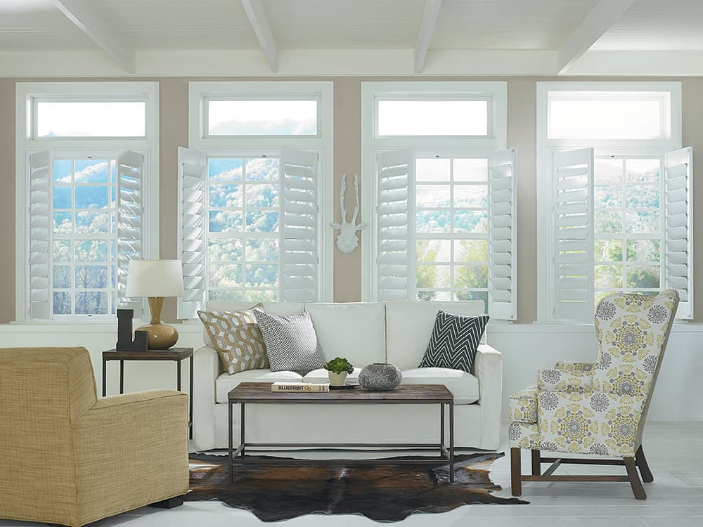 What are faux wood shutters made of the finishing touch for Should plantation shutters match trim