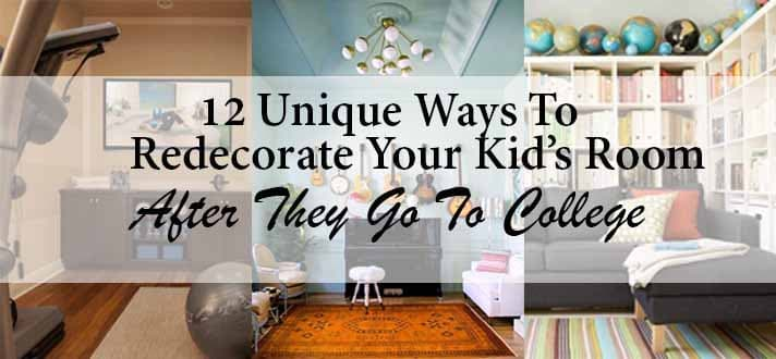 12 unique ways to redecorate your kids room after they go. Black Bedroom Furniture Sets. Home Design Ideas