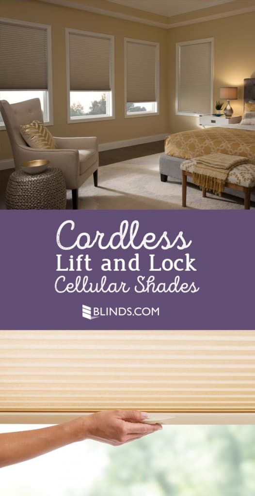 cordless lift and lock cellular shades from Blinds.com
