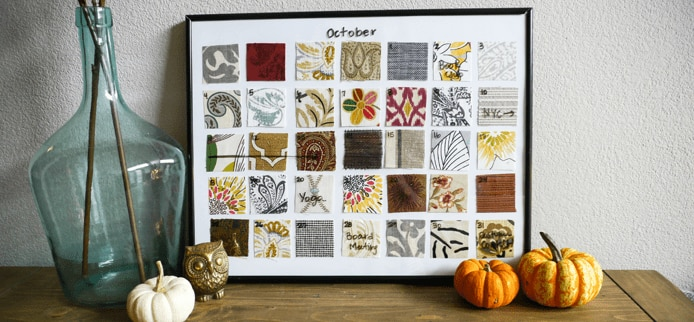 Diy Dry Erase Fabric Calendar The Finishing Touch
