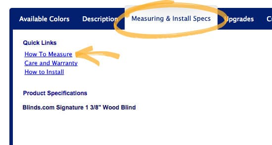 measuring instructions prod page