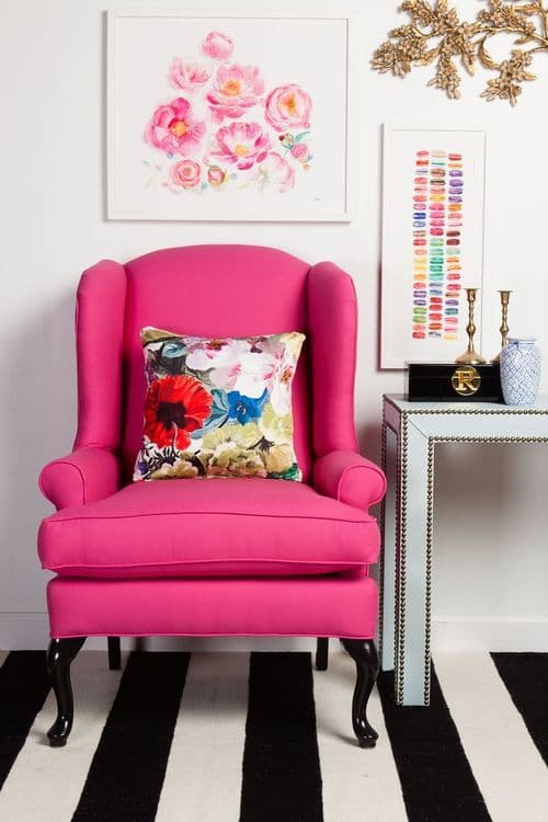 pink chair via society social