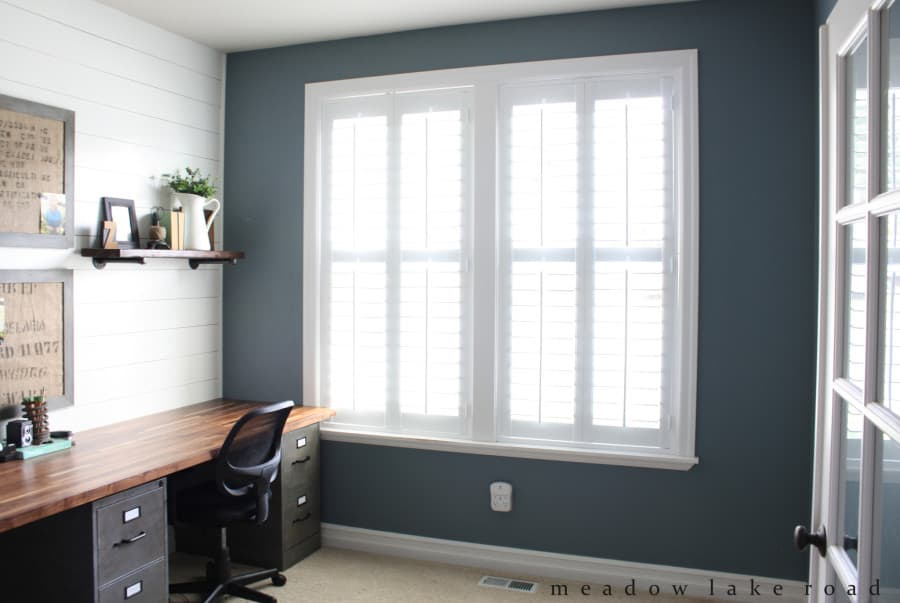 Signature Wood Shutters Finish Home Office Remodel - The Finishing ...