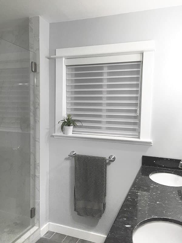 Perfect bathroom privacy with radiance sheer shades the - Best blinds for bathroom privacy ...