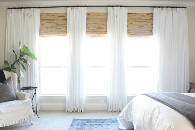 white french pleat drapes