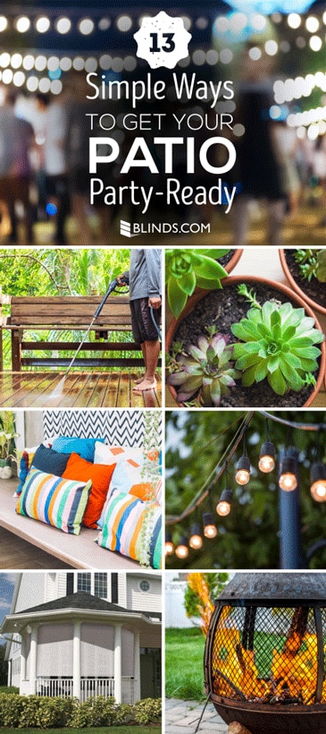 13 simple ways to get your patio party ready