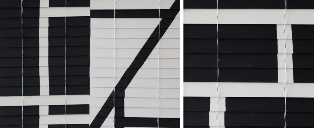 painted blinds art installation