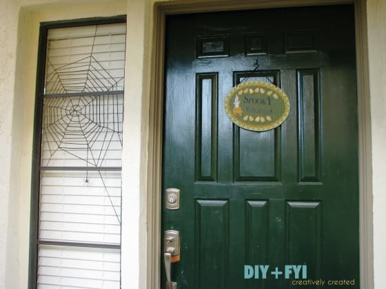 Halloween window spiderweb