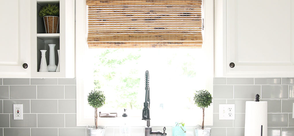 Give A Modern Farmhouse Kitchen Texture With Woven Wood