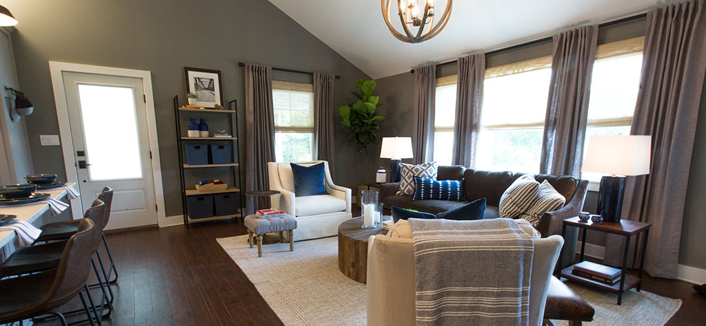 As Seen On Property Brothers Bachelor Pad Gets A Ious Look With Woven Wood Shades