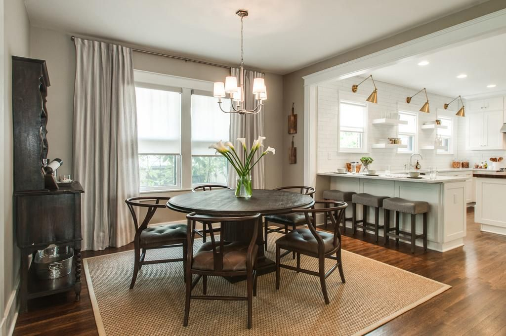 Property brothers nashville home gets upgrade with white for Dining room upgrades