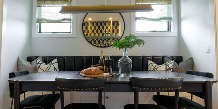 As Seen On Property Brothers Hippie Bungalow Gets Modern Update With Woven Wood Shades Abigail Sawyer Bedroom Dining