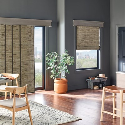 Radiance 2 light filtering sheer shading - Woven wood wall panels ...