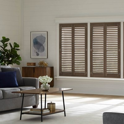 Faux wood shutters - Discount interior plantation shutters ...