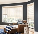 Bali: 2-1/2 in. Double Beveled Faux Wood Blind
