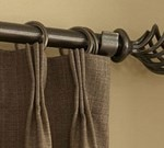 "Blinds.com: 1"" Custom Wrought Iron Drapery Hardware"